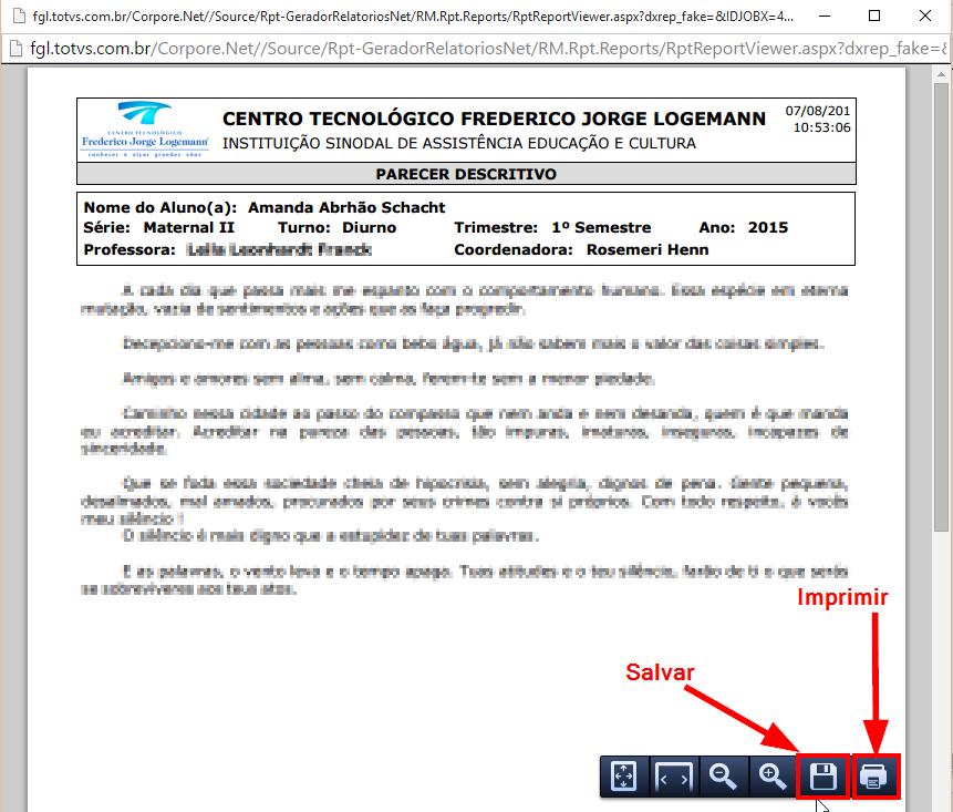 Muitas vezes Imprimir Parecer pelo Portal - IT's Instruções de Trabalho - FAHOR  NU15